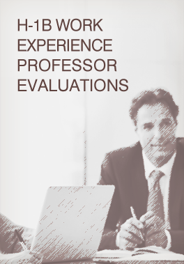 H-1B Work Experience Professor Evaluations